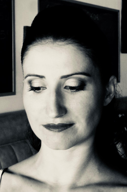 maquillage noir et blanc